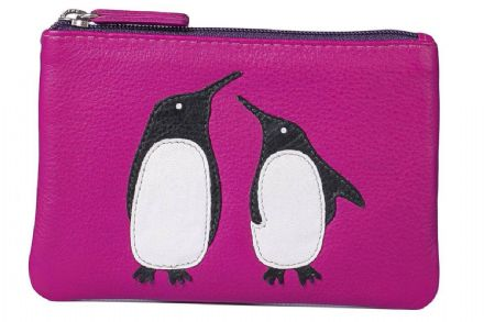 Leather Ollie Pinky Penguin Coin Purse
